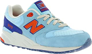 New Balance 999 Women's Casual Sneakers, Size 7.5, Color Freshwater/Coral Glow Blue