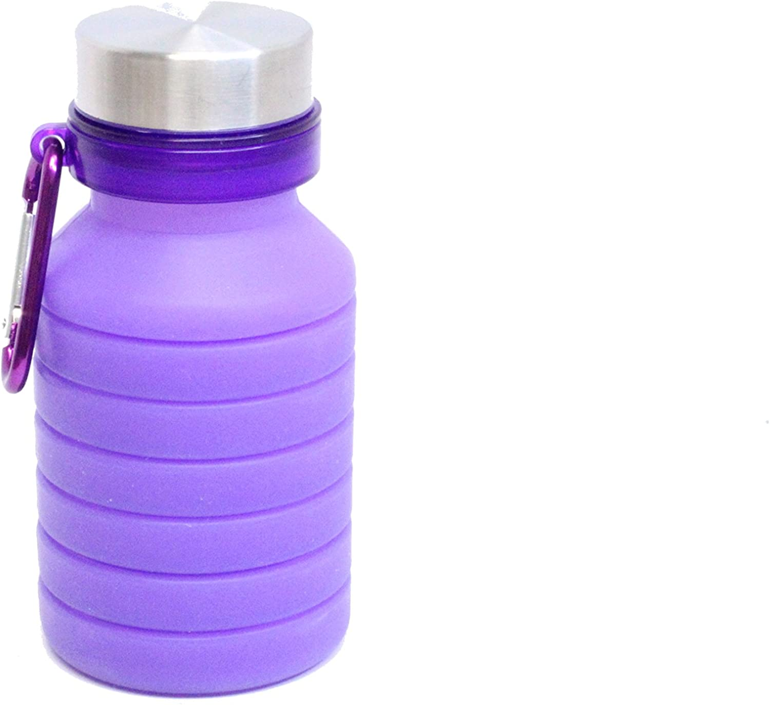 Collapsible Soft Water Bottle  Silicone Sports Bottle  Expandable Water Bottle  Traveling, Camping, Fitness Portable