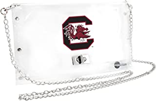 South Carolina Fighting Gamecocks NCAA Envelope Purse, Clear - 10 x 0.5 x 6.5 - Inch