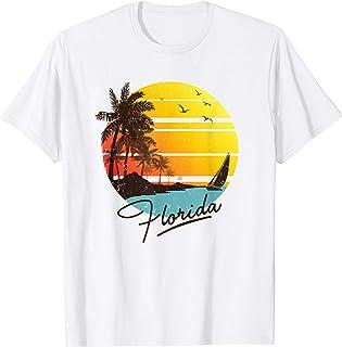 Florida Sunshine State Retro Summer Tropical Beach T-shirt