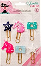 American Crafts Shimelle Glitter Girl 6 Piece Icon Paper Clips