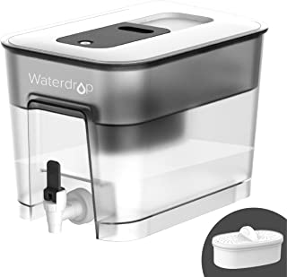 200-Gallon Long-Life 20-Cup Water Filter Dispenser with 1 Filter – Waterdrop
