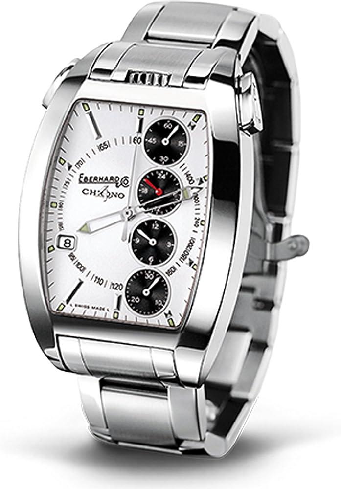 eberhard & co. chrono 4 orologio automatico in acciaio inox 31047.8