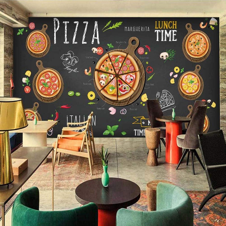 ventas calientes Zhangxuer Personalizado Mural de la Parojo Tienda Tienda Tienda de Pizza Pintado a Mano Resumen Pizza 3D Papel Tapiz para Fotos Café Tienda de postres Restaurante Occidental Pintura de parojo250x175cm250x175cm  precio mas barato