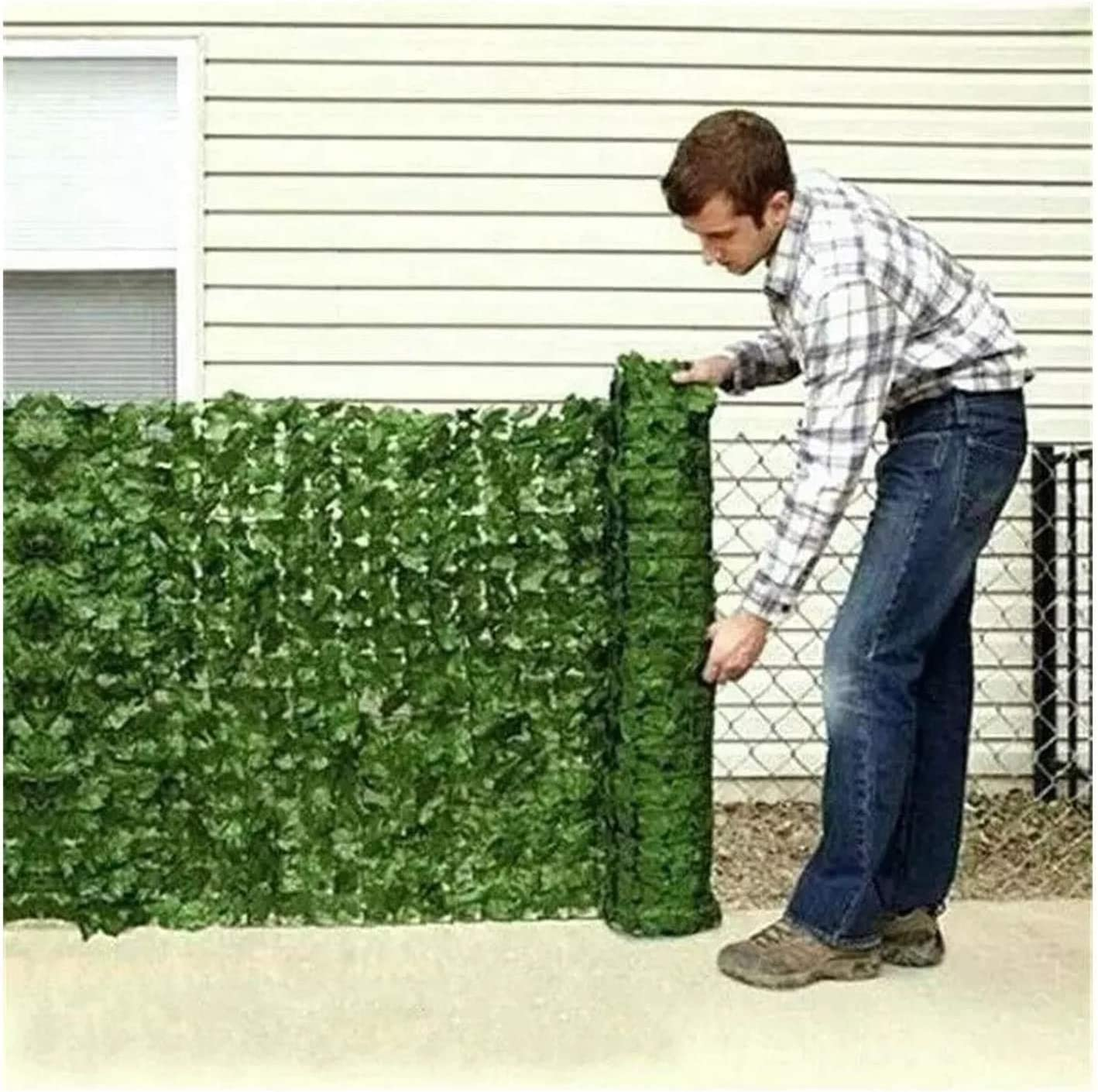 Privacy Fence Screen gift Ivy Limited time sale Balcony Wea Fences Leaf Polyester Decor