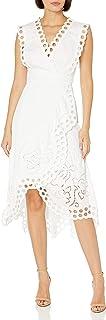 Rebecca Taylor Women's Sleeveless Ariana Eyelet Wrap Dress