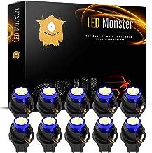 LED Monster T10 194 LED Light bulb 168 LED Bulbs Bright Instrument Panel Gauge Cluster Dashboard LED Light Bulbs Set 10 T10 8 SMD 1206 LED Bulbs with 10 Twist Lock Socket Blue