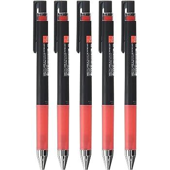 パイロット ノック式 ゲルインキボールペン ジュースアップ 赤インク 5本セット (0.4)