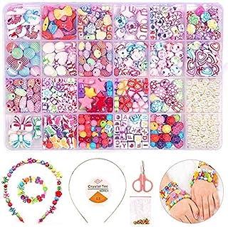 Starthi DIY Bead Set, 550+pcs Children Pop Beads for Making Necklace Bracelet Ring, Art Craft & Jewellery Making Kit for K...