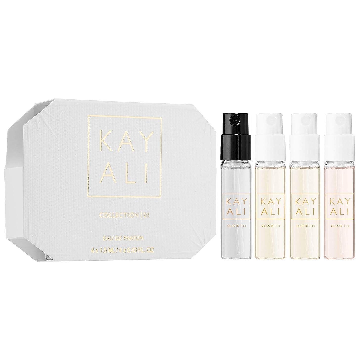 導出ダイバー学期Huda Beauty Kayali Eau De Parfum Sample Collection (Elixir 11, Citrus 08, Musk 12, Vanilla 28) 0.05 fl oz x 4 [並行輸入品]