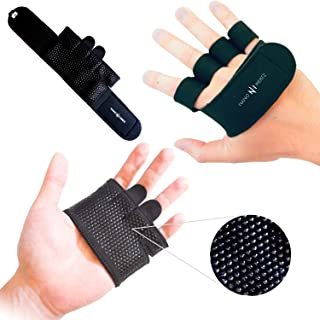NH Weight-Lifting Workout Crossfit Fitness Gloves | Callus-Guard Gym Barehand Grips | Support Alpha Cross-Training, Rowing, Power-Lifting, Pull Up for Men & Women