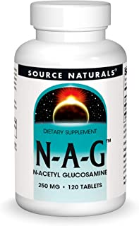 Source Naturals N-A-G 250 mg N-Acetyl Glucosamine for Joint Support and Intestinal Lining - 120 Tablets