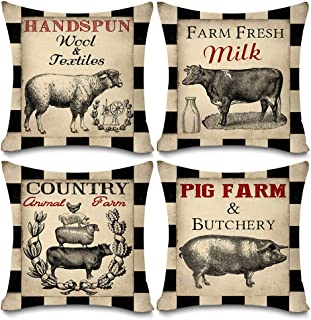Best farm animal cushion covers Reviews