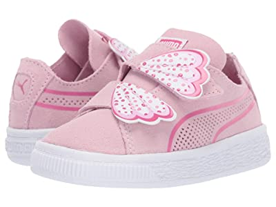 Puma Kids Suede Deconstruct Butterfly V (Toddler) (Pale Pink/Fuchsia Purple/Puma White) Girls Shoes