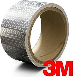 "3M High Intensity Silver White Adhesive Diamond Reflective Automotive Vinyl Tape Roll (2"" x 24"")"