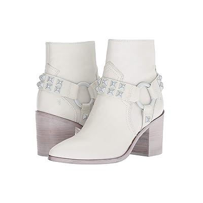 Frye Flynn Deco Stud Harness Short (White Polished Soft Full Grain) Women