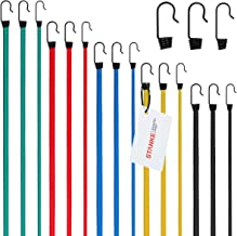 Seilwerk STANKE flexibele bagagebeschermingskoord 6mm 5m rubberen touw GEEL, 10 veerhaken voor samentrekkende rubbers 6mm