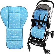NEWSTYLE Baby Sitzauflage,Weich und Reversible Baby reine Baumwolle Kinderwagen Autositz Liner Pram Insert Portable Wickelauflage,für Kinderwagen, Buggy, Kindersitz und Babyschale Blau