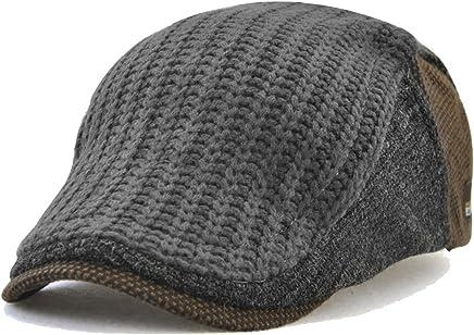 c218242d FayTop Mens Beret Newsboy Cap Flat Duckbill Buckle Cabbie Hat Ivy Irish  Scally Cap Gatsby Driving