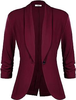 3bf53f50c8 iClosam Veste Femme Blazer Chic De Costume Casual Slim Tailleur À Manches  3/4 Un