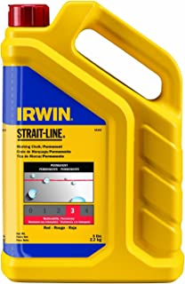 IRWIN Tools STRAIT-LINE Standard Marking Chalk, 5-pound, Red (65102)