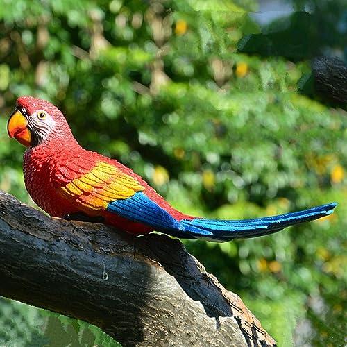 popular Simulation discount Parrot Bird Sculpture, Wall Hanging Resin lowest Crafts Handmade Decor,Half Side Lifelike Sculpture Ornament Garden Decor Statues Figurines, 12In sale