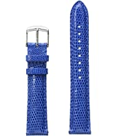 Michele - 18mm Cobalt Lizard Strap Blue