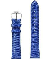 Michele - 18mm Cobalt Lizard Strap Blue