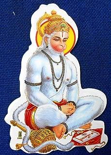 Meditating Lord Hanuman : Hindu God Sticker Size 3