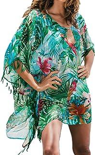 L-Peach レディース 夏 UVケア日焼け 冷房対策 シフォン チュニック 水着海 旅行体型カバー ビキニカバーアップ ビーチウェア