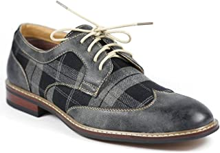 tartan brogue shoes
