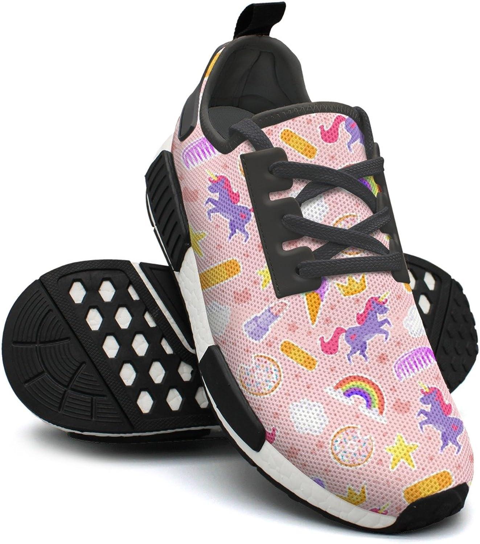 Yellow Star Rainbow Ice Cream Donut Unicorns Outdoor Sport Distance Running shoes Womens NMD