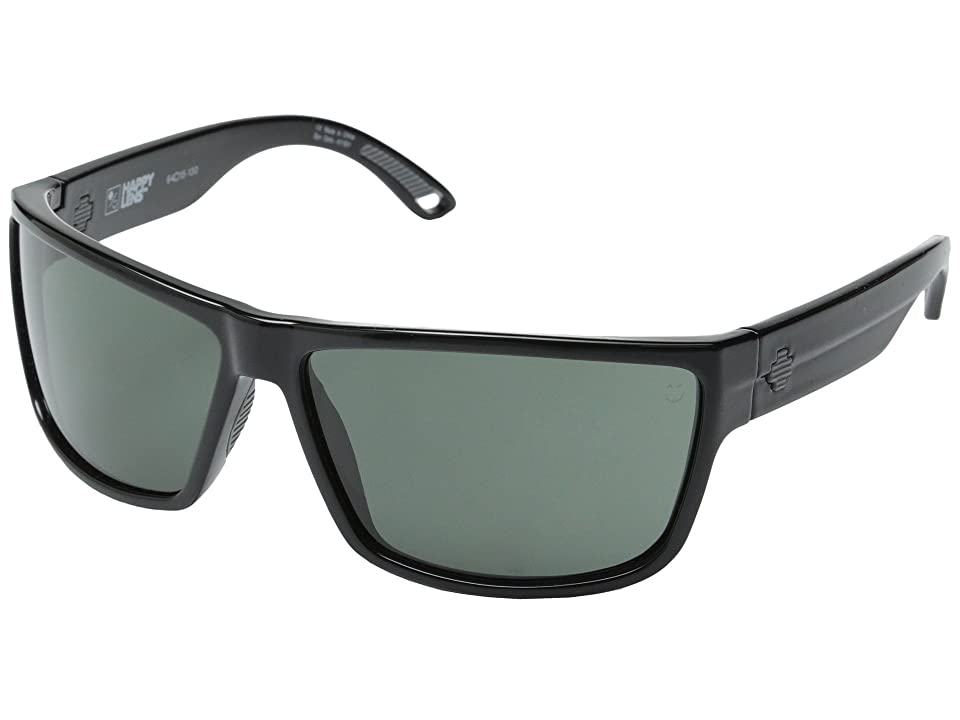 Spy Optic Rocky (Black/Happy Gray Green) Fashion Sunglasses