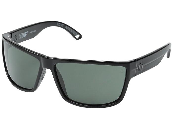 Spy Optic Rocky (Black/Happy Gray Green) Fashion Sunglasses