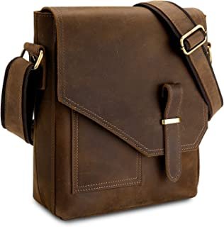 Leather Messenger Bag for Men Small Shoulder Bag Crossbody Bag