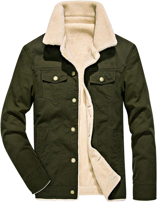 Tealun Winter Jacket Men Cotton Casual Fleece Outwear Thick Warm Fur Collar Coats