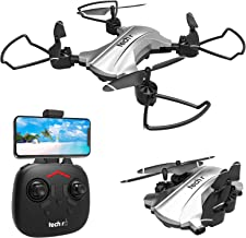 $79 » tech RC Foldable Drone with HD Camera 720p 110°FOV,16 mins Longer Flytime RC Quadcopter, Altitude Hold Headless Mode,3D Flips One-Key Flight/Land, RTF Easy Fly Portable FPV Drone for Beginners