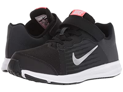Nike Kids Downshifter 8 (Little Kid) (Black/Metallic Silver/Anthracite/White) Girls Shoes