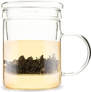 Pinky Up 5067 Blake Glass Tea Infuser Mug Cups, Mugs & Saucers, Clear