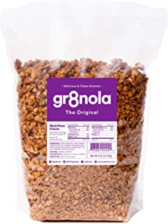 gr8nola THE ORIGINAL - Healthy, Low Sugar Bulk Granola Cereal - Made with Superfoods Whole Almonds, Honey, Cinnamon and Fl...