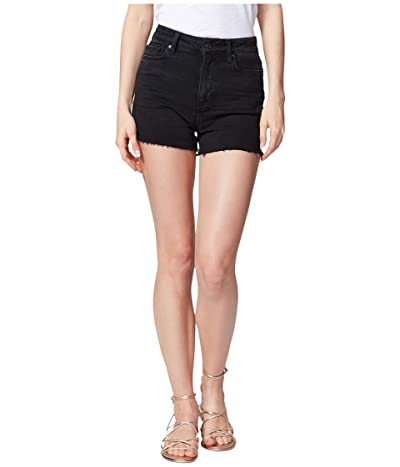 Paige Margot Shorts w/ Raw Hem in Lived In Noir (Lived In Noir) Women