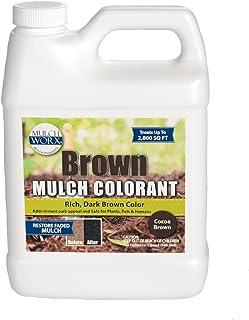 MulchWorx Brown Mulch Color Concentrate - 2,800 Sq. Ft. - Rich Dark Brown Mulch Dye Spray