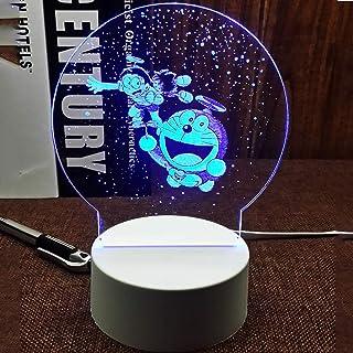 Color 3D luz de la noche, Doraemon Campanilla la máquina del gato Nobita Nobi, 3D Luz colorida de la noche, LED de carga USB del escritorio de la luz en el dormitorio plug-sueño ligero, creativo regal