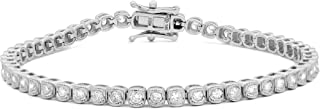 Femme Luxe Brianna Diamond Bracelet for Women (2.00 Carats, G-H Color, I2 Clarity), 14K White Gold, with Gift Box, Giftabl...