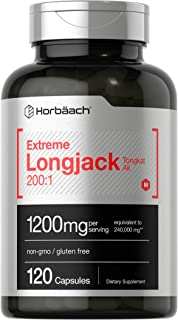 Extreme Longjack Tongkat Ali 200 1 | 120 Capsules | Male Performance Supplement Pills | Extract for Libido, Energy, Stamin...
