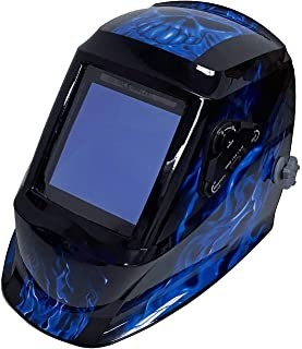 Instapark ADF Series GX990T Solar Powered Auto Darkening Welding Helmet with 4 Optical Sensors, 3.94