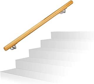 rustic wood handrails