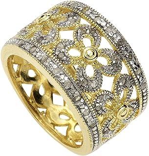 钻石 BY Ellen K. 379270069–017I3白色圆形切割0.216克拉钻石银戒指