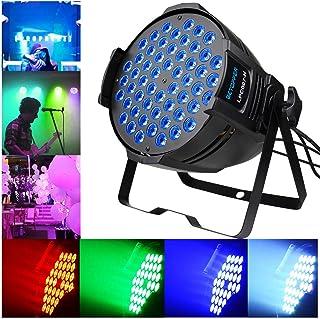 BETOPPER RGB Par Lights DJ Par Lighting Daisy Chain Sound Activated DMX Professional for Stage Wedding Preforming event