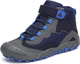 Mishansha Outdoor Ankle Hiking Boots Boys Girls Treekking Walking Shoes with Hook and Loop